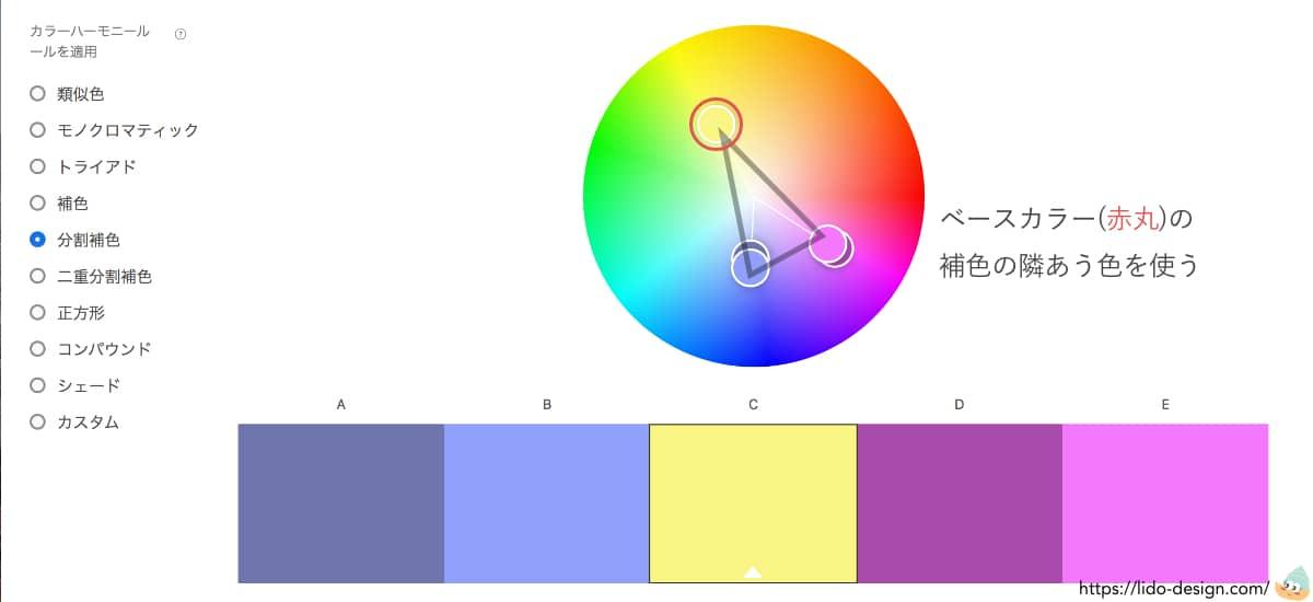Adobecolorの分割補色
