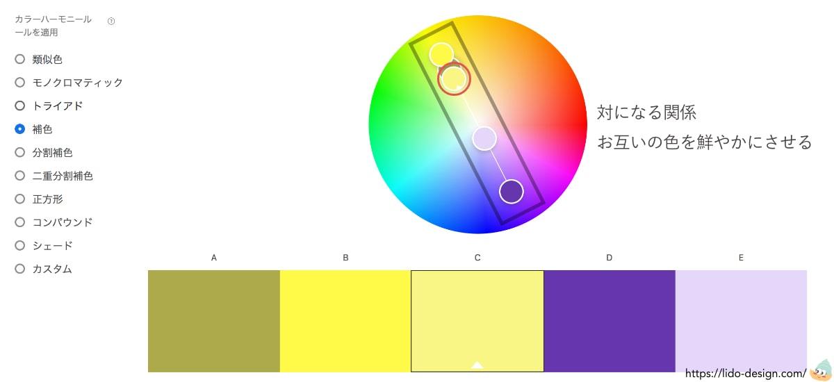 Adobeカラーの補色