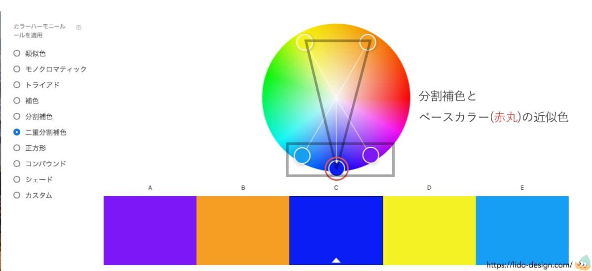 Adobecolor二重分割補色