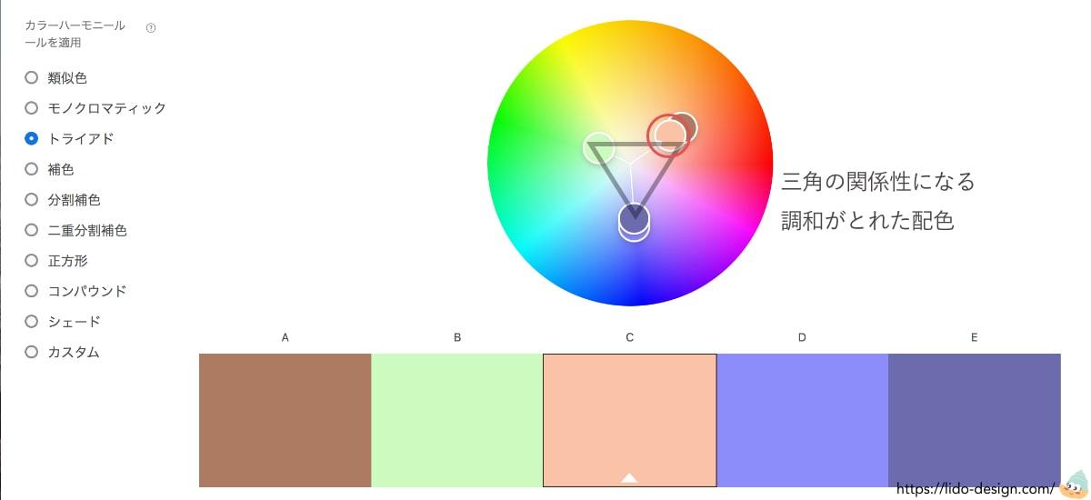 Adobecolorのトライアド